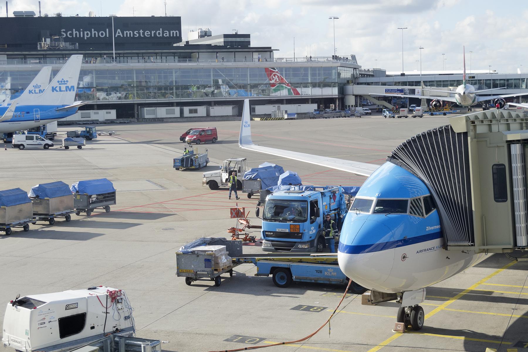 Planes at Schiphol
