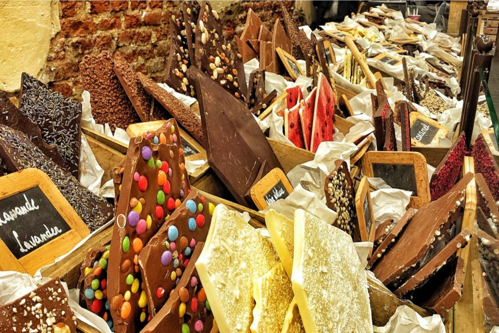 shopping guide to Belgium - Brussels chocolate shop