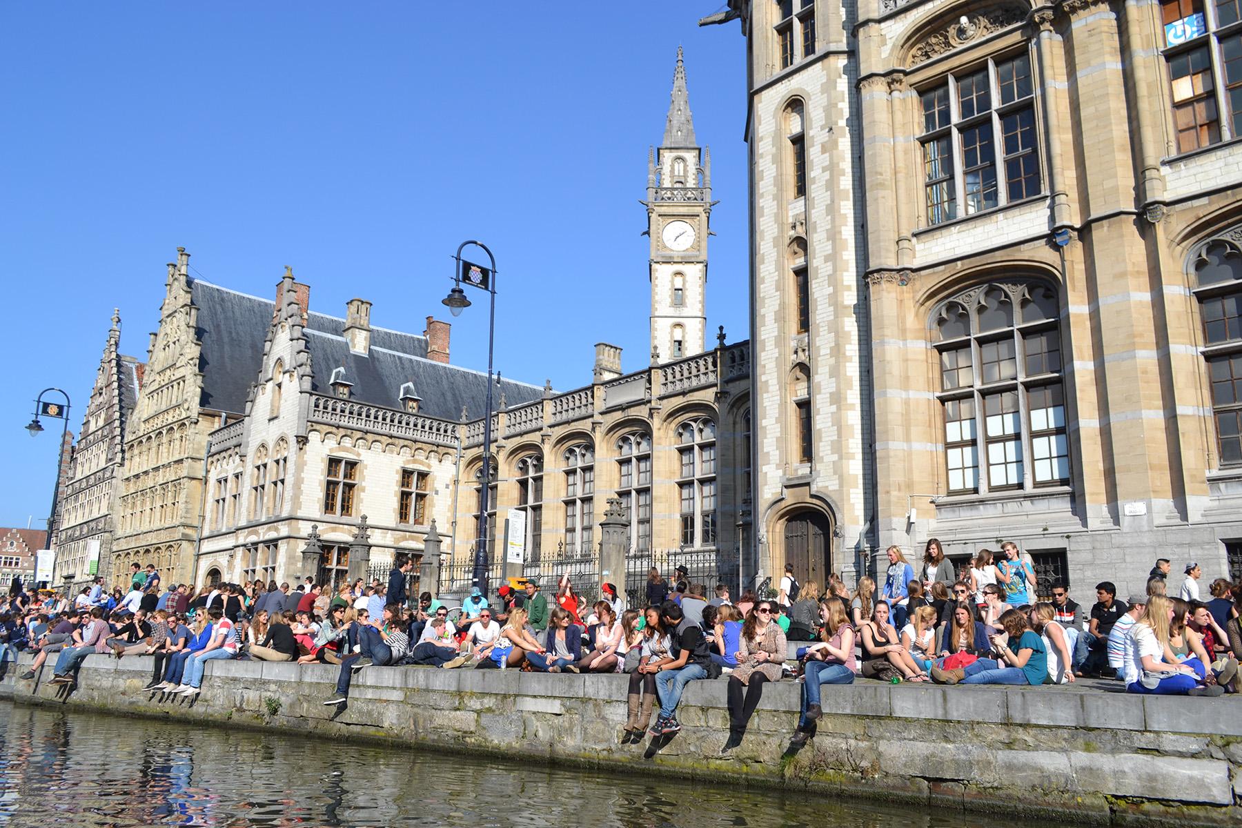 University students in Ghent, Belgium
