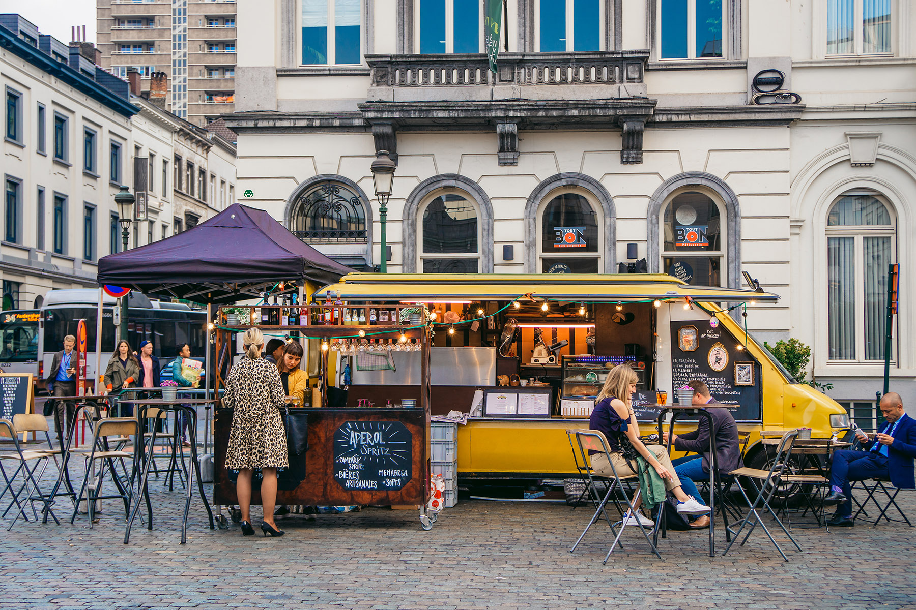 Food truck in Brussels