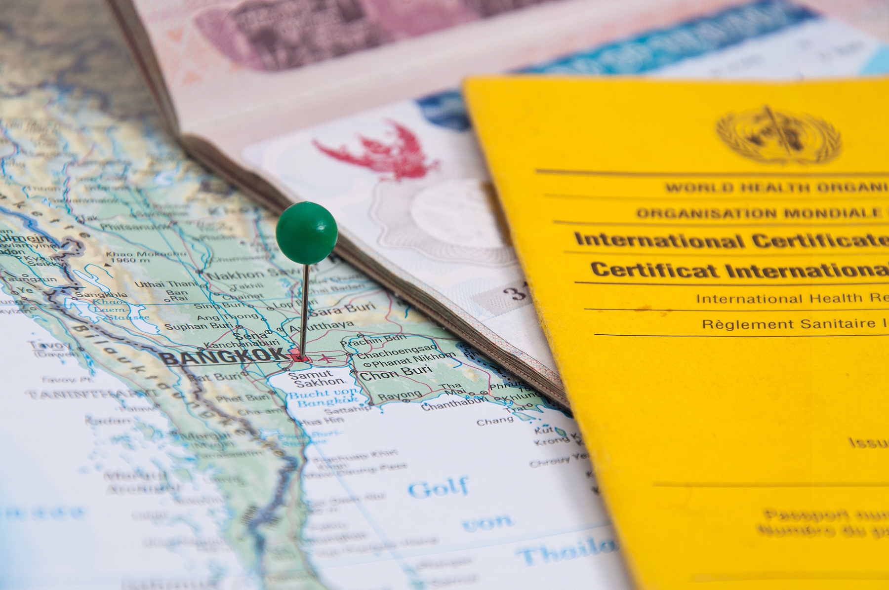 Travel vaccination certificate