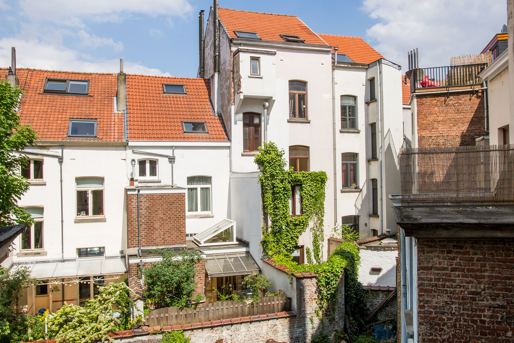 A typical view from a residential balcony in Brussels