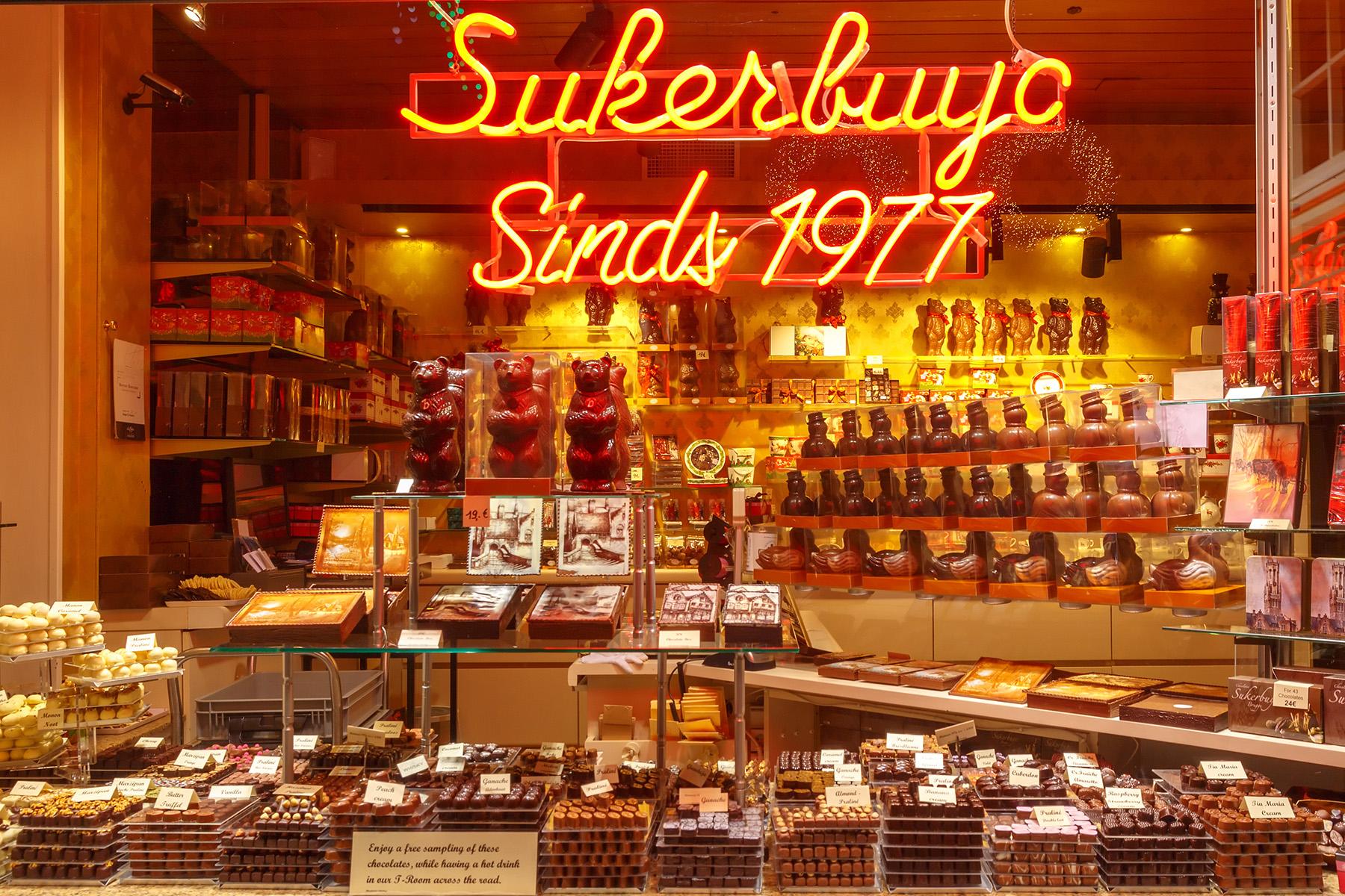 A Belgian chocolate shop