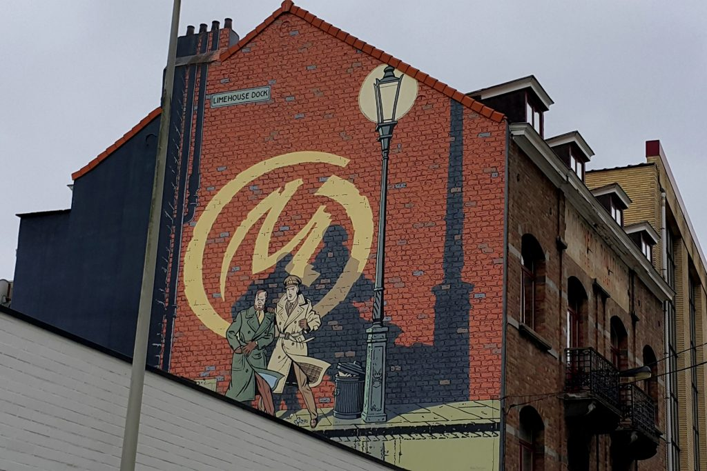 Blake and Mortimer mural in Brussels
