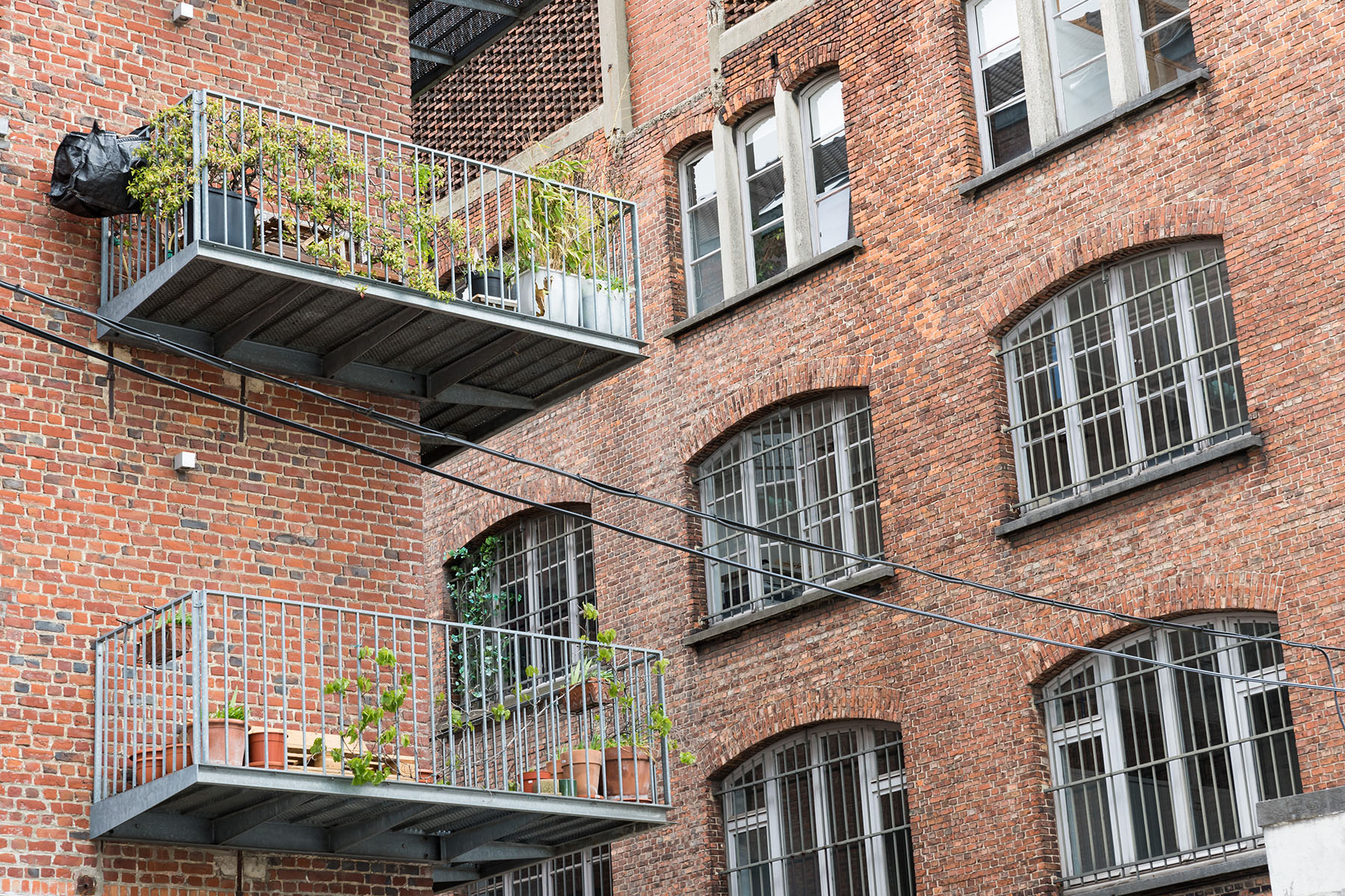Brick apartments in Brussels