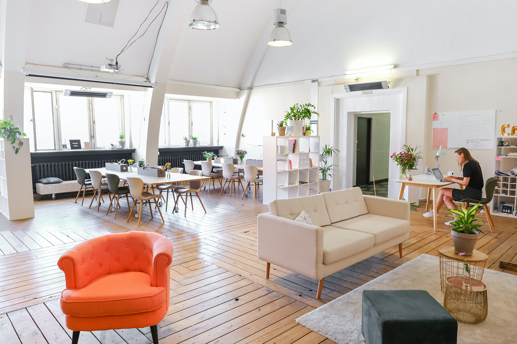 A bright and airy coworking space