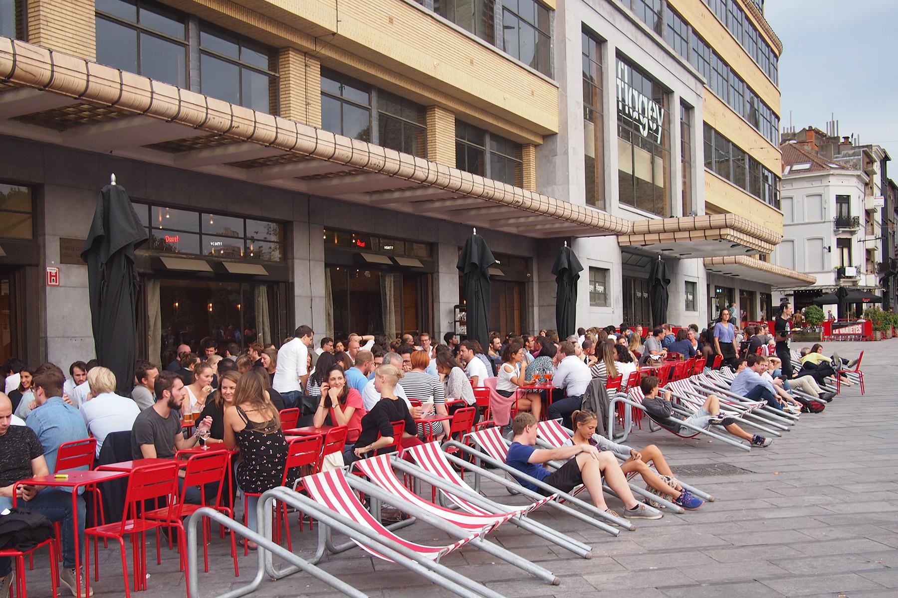 The terrace at Café Belga on Flagey