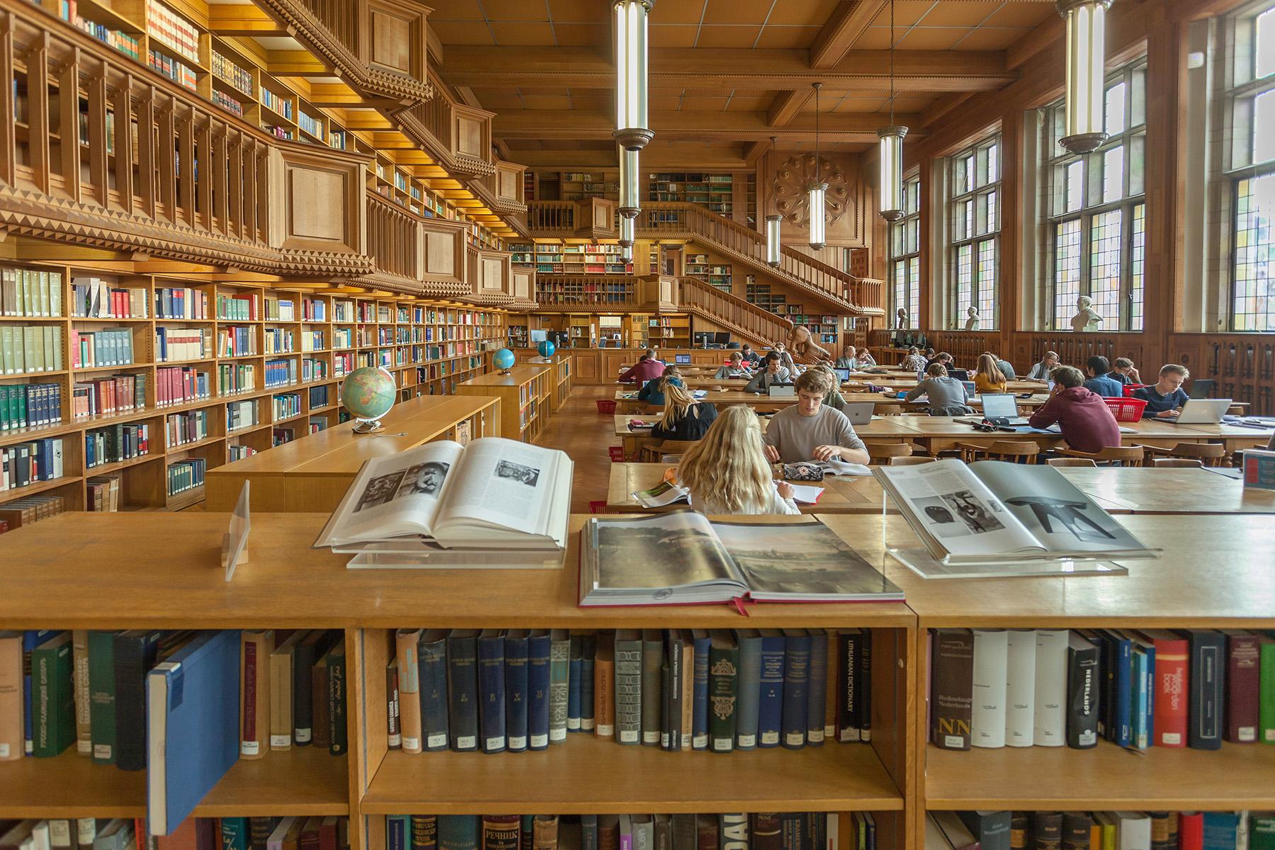 A library at the Katholieke Universiteit Leuven
