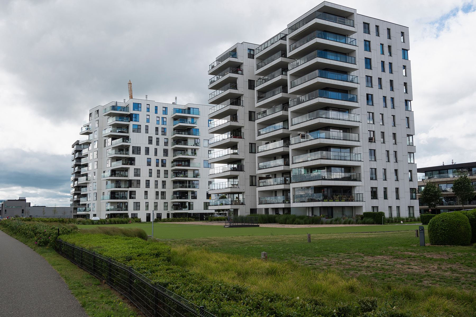 Modern apartments in Temse, Belgium