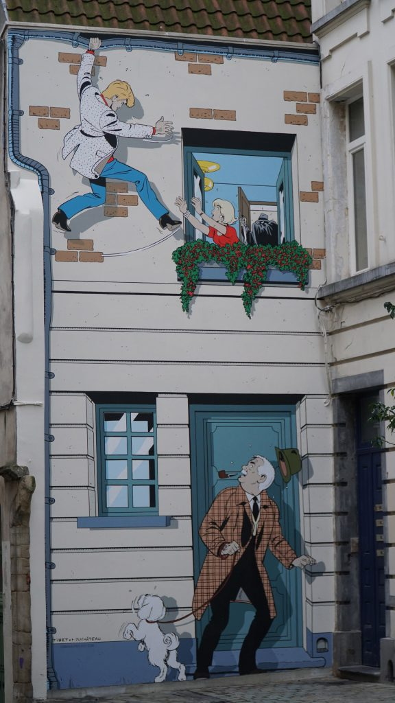 Ric Hochet mural in Brussels
