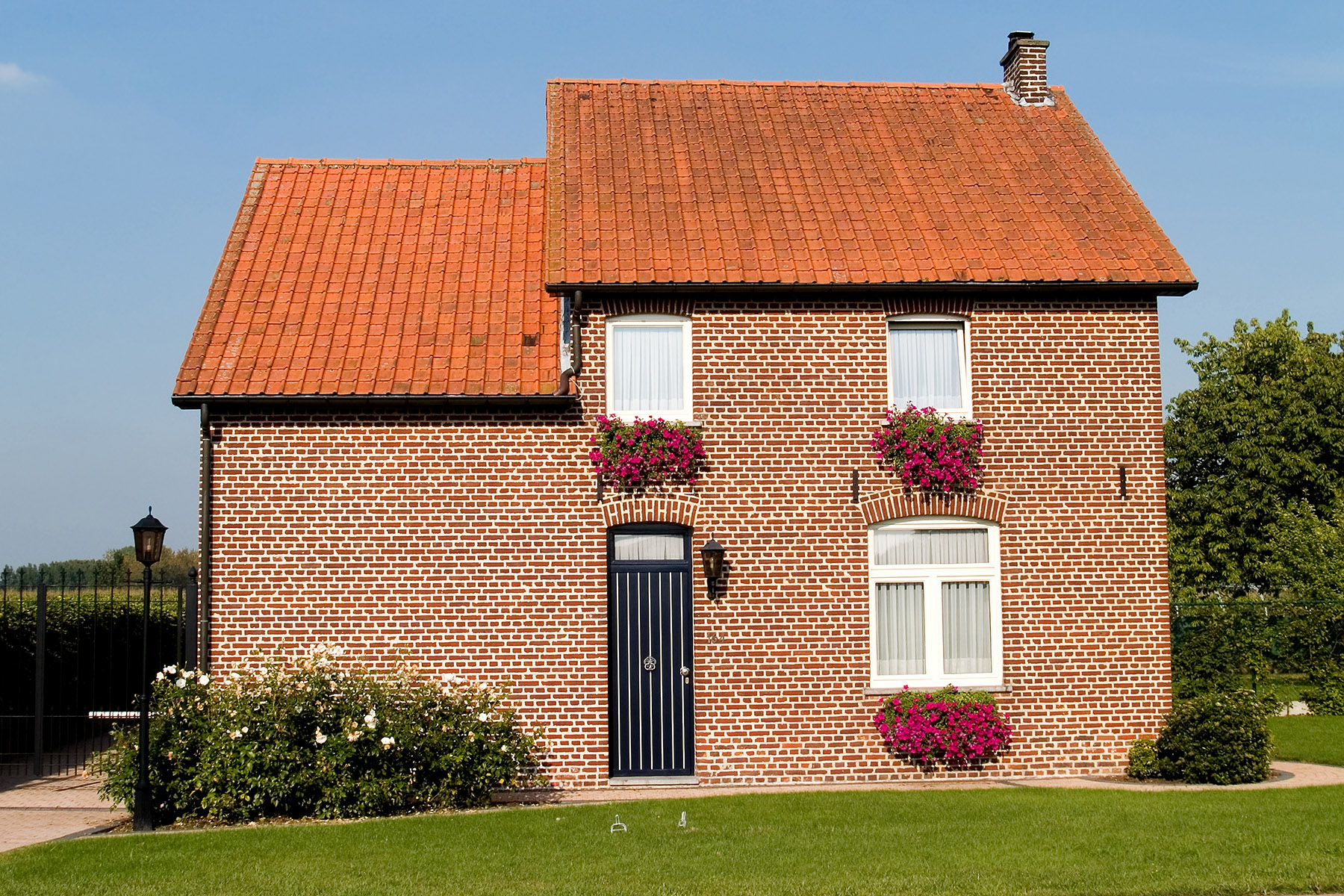 A typical suburban house in Belgium