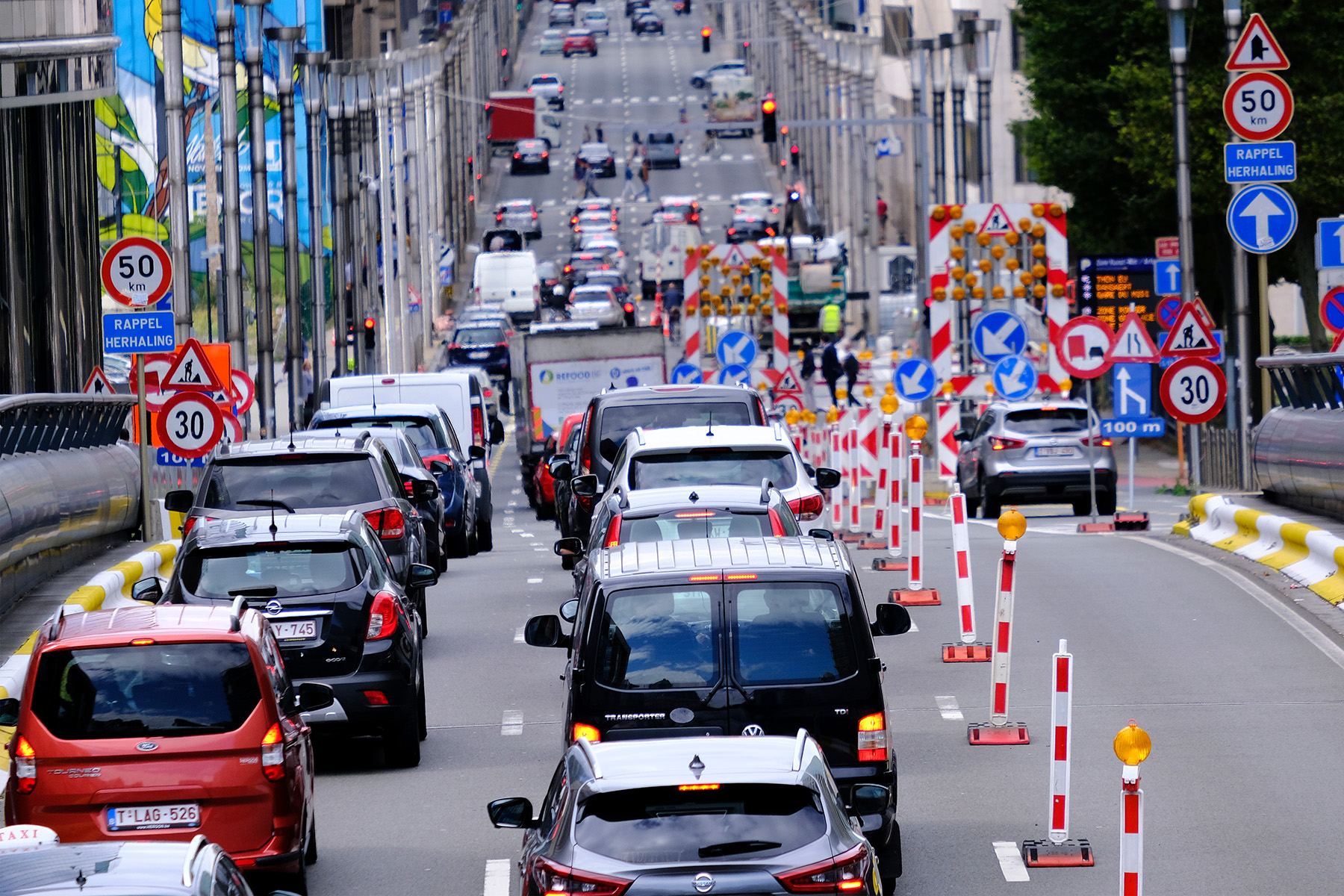 Traffic jam in Brussels