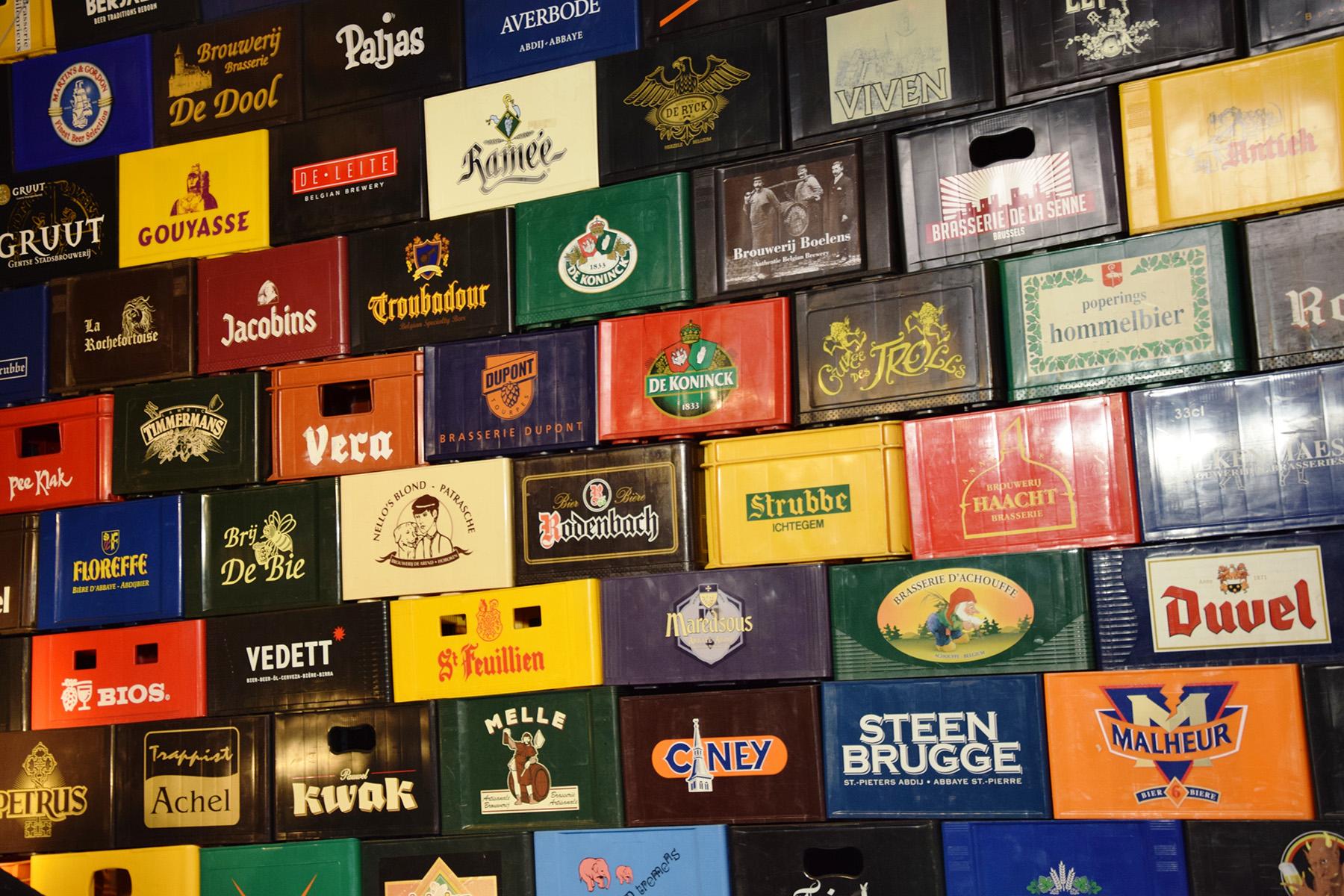 Belgian beer crates