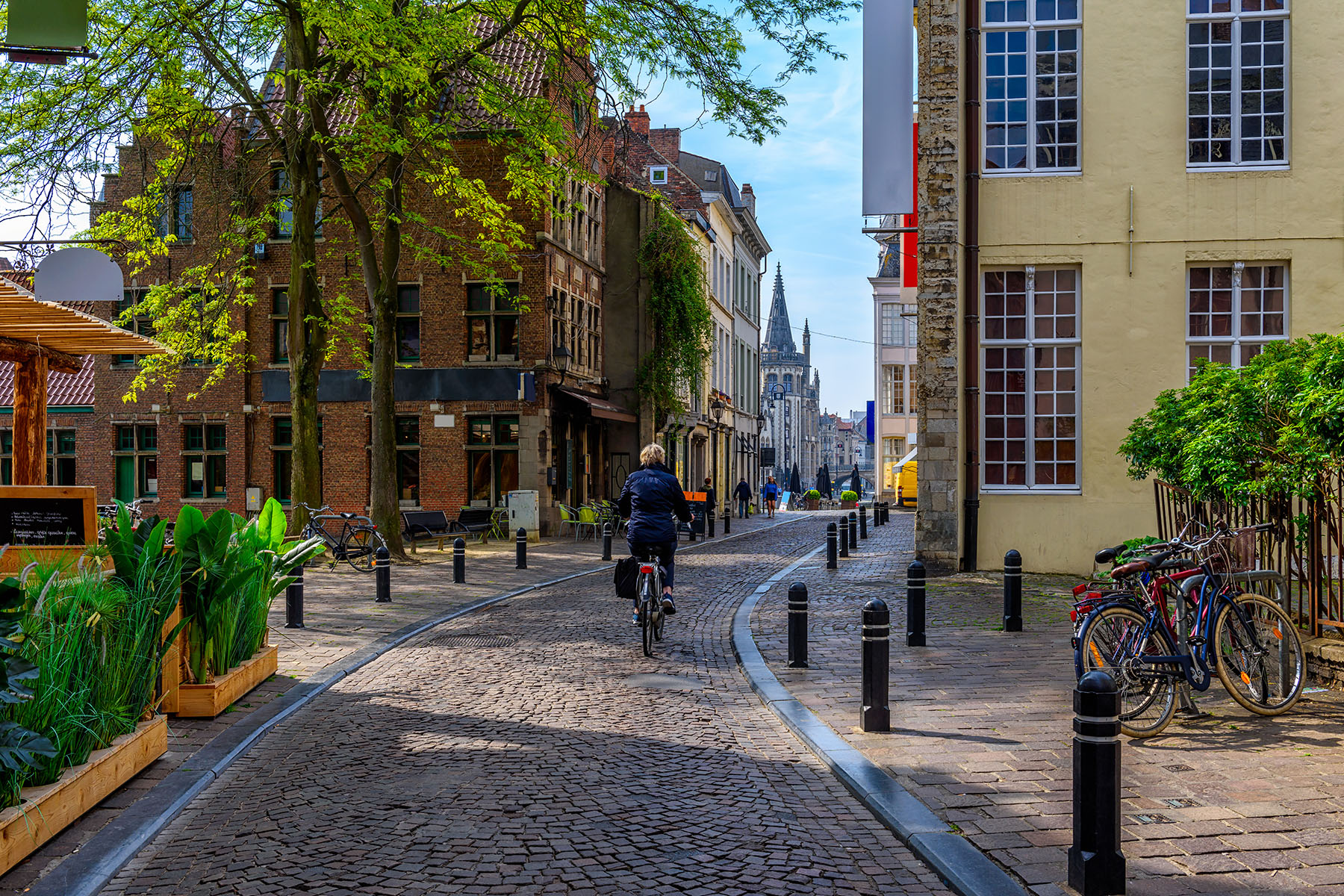 Cyclist in Gent
