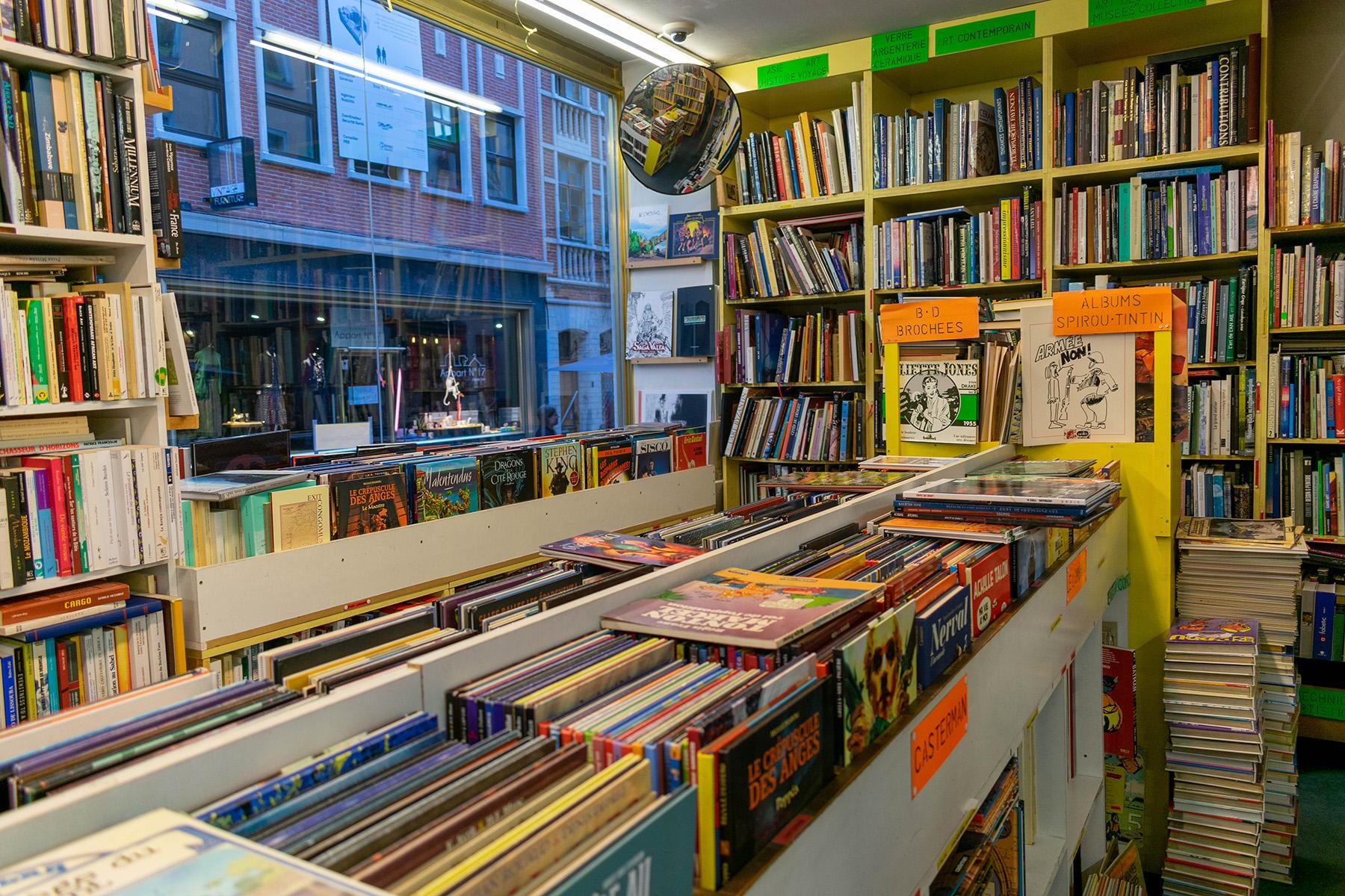 Comic shop in Brussels