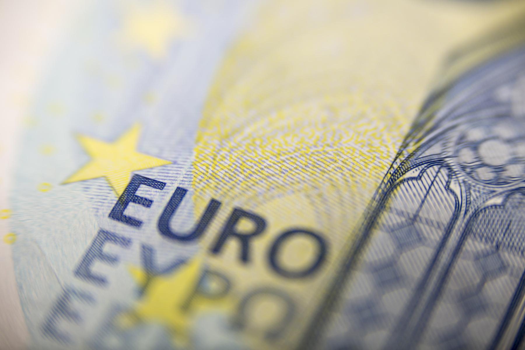 Twenty euro closeup