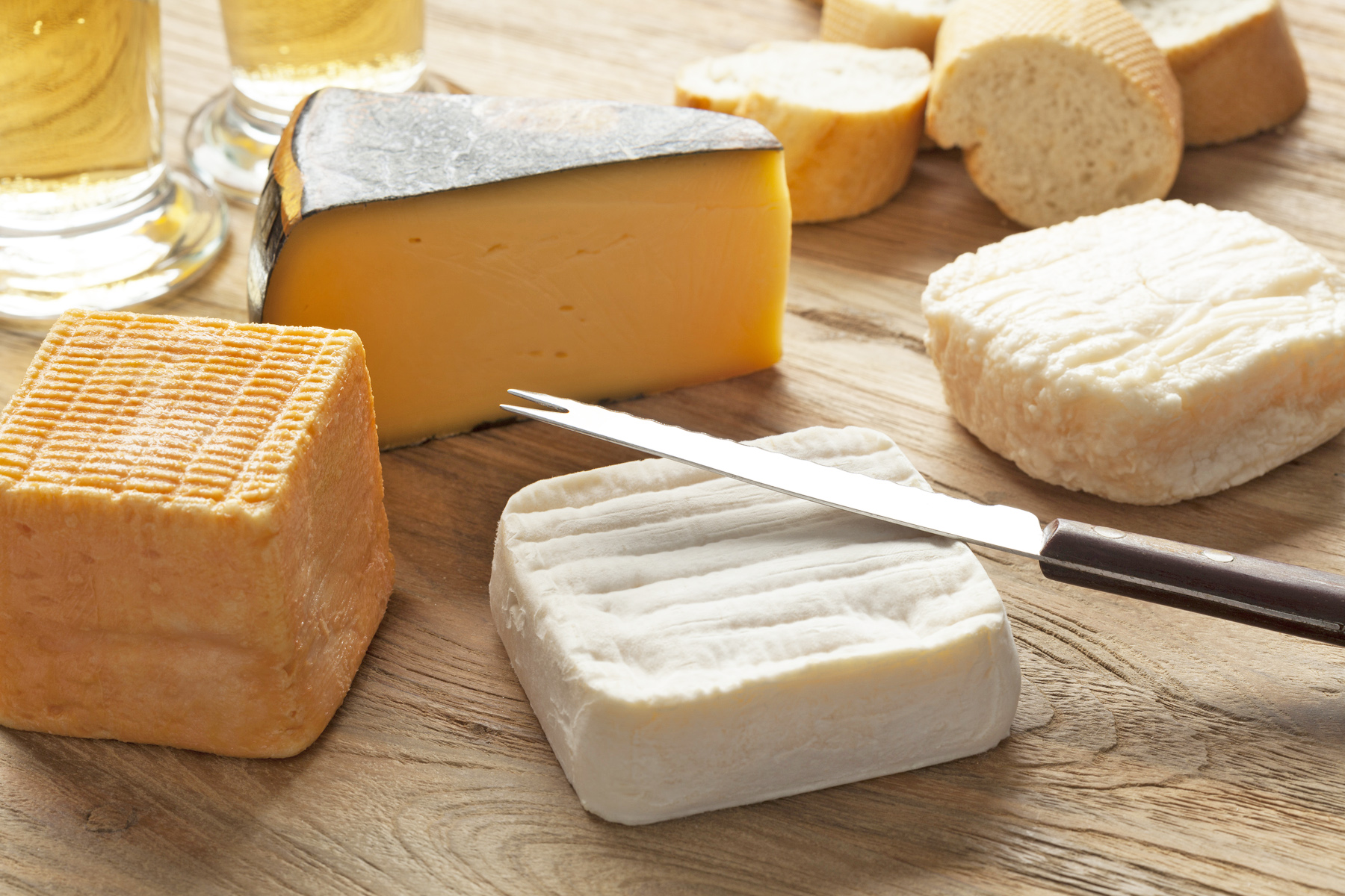 Traditional Belgian cheese board