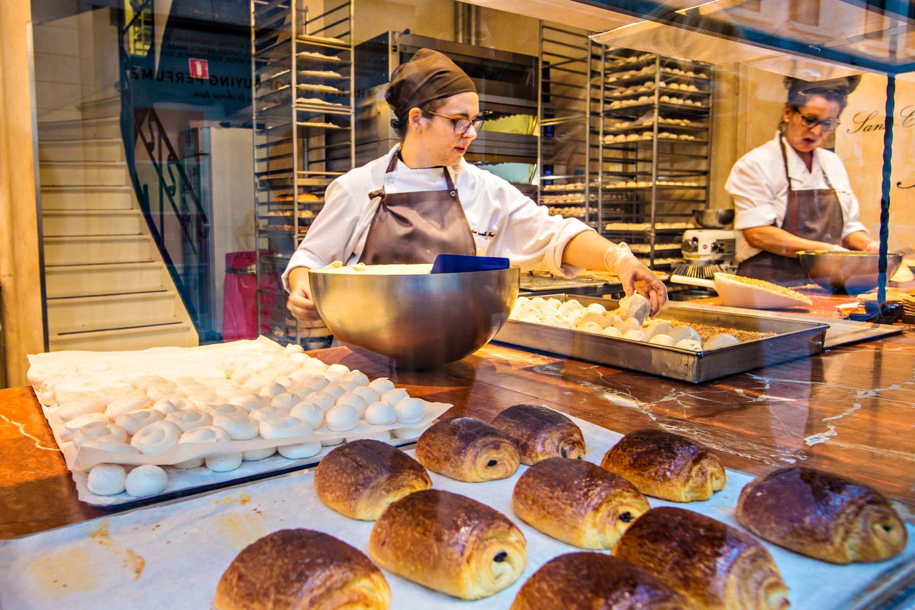 work in a bakery