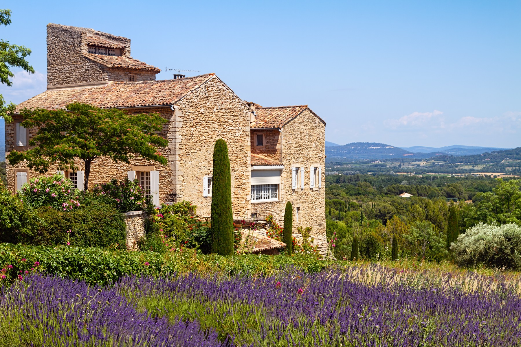 French inheritance tax, France house in lavender field
