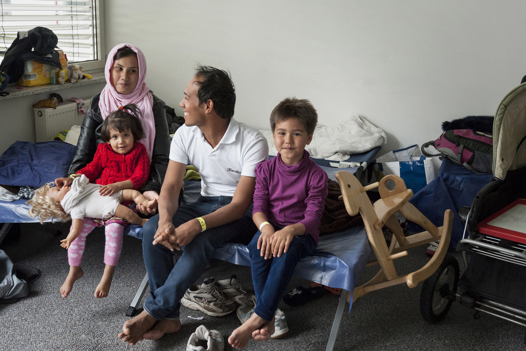 A refugee family in France