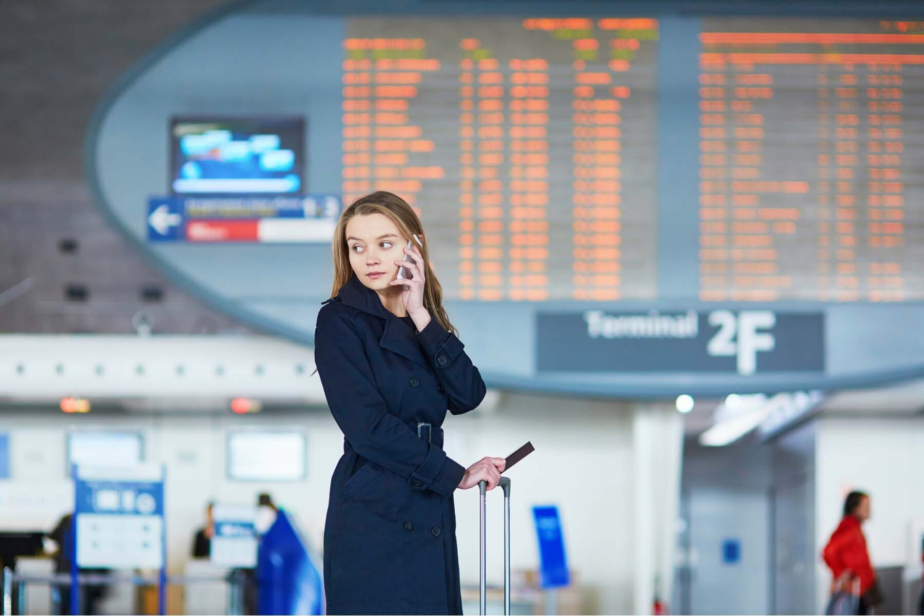 woman airport france