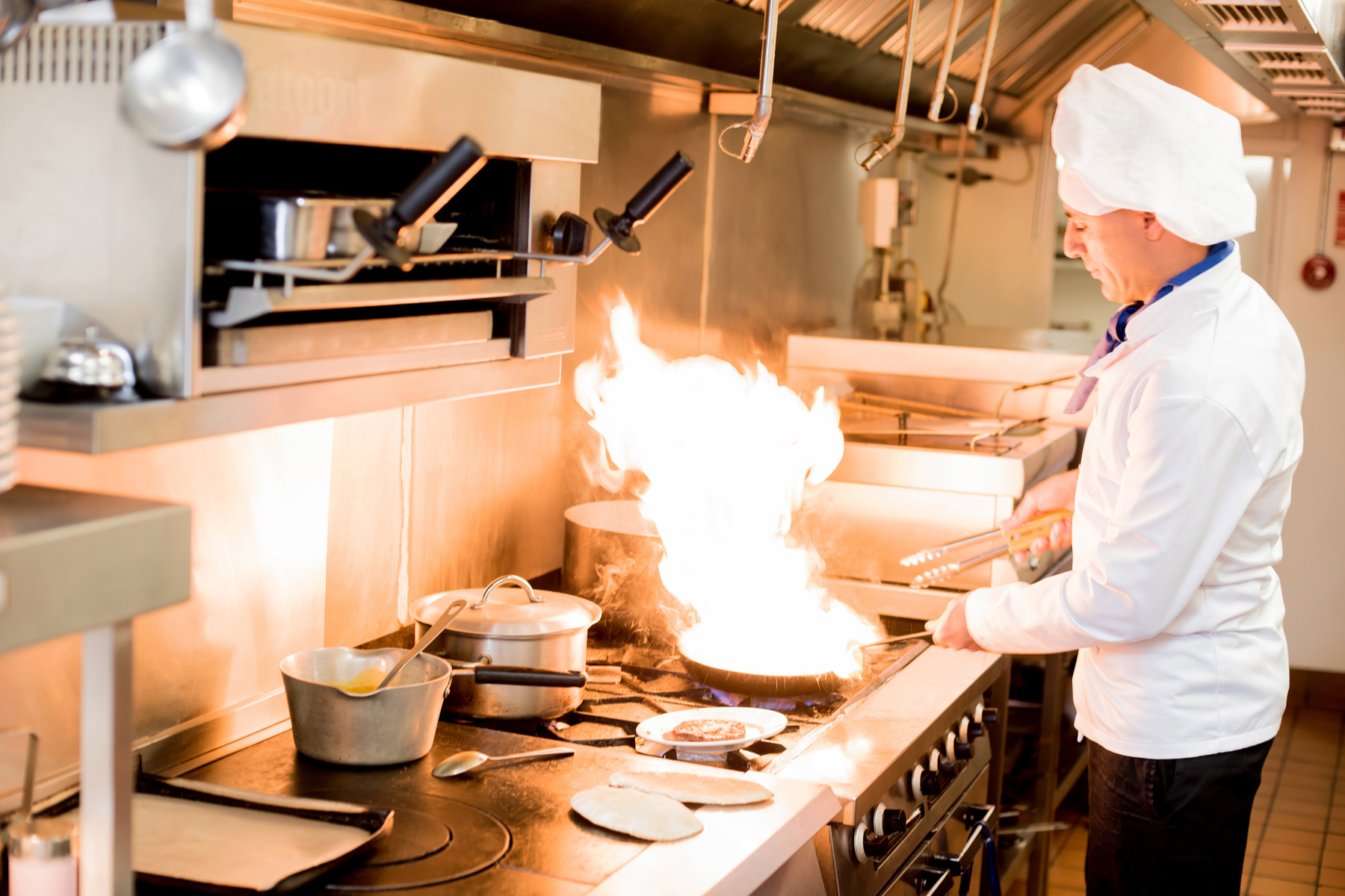 French chef in the kitchen