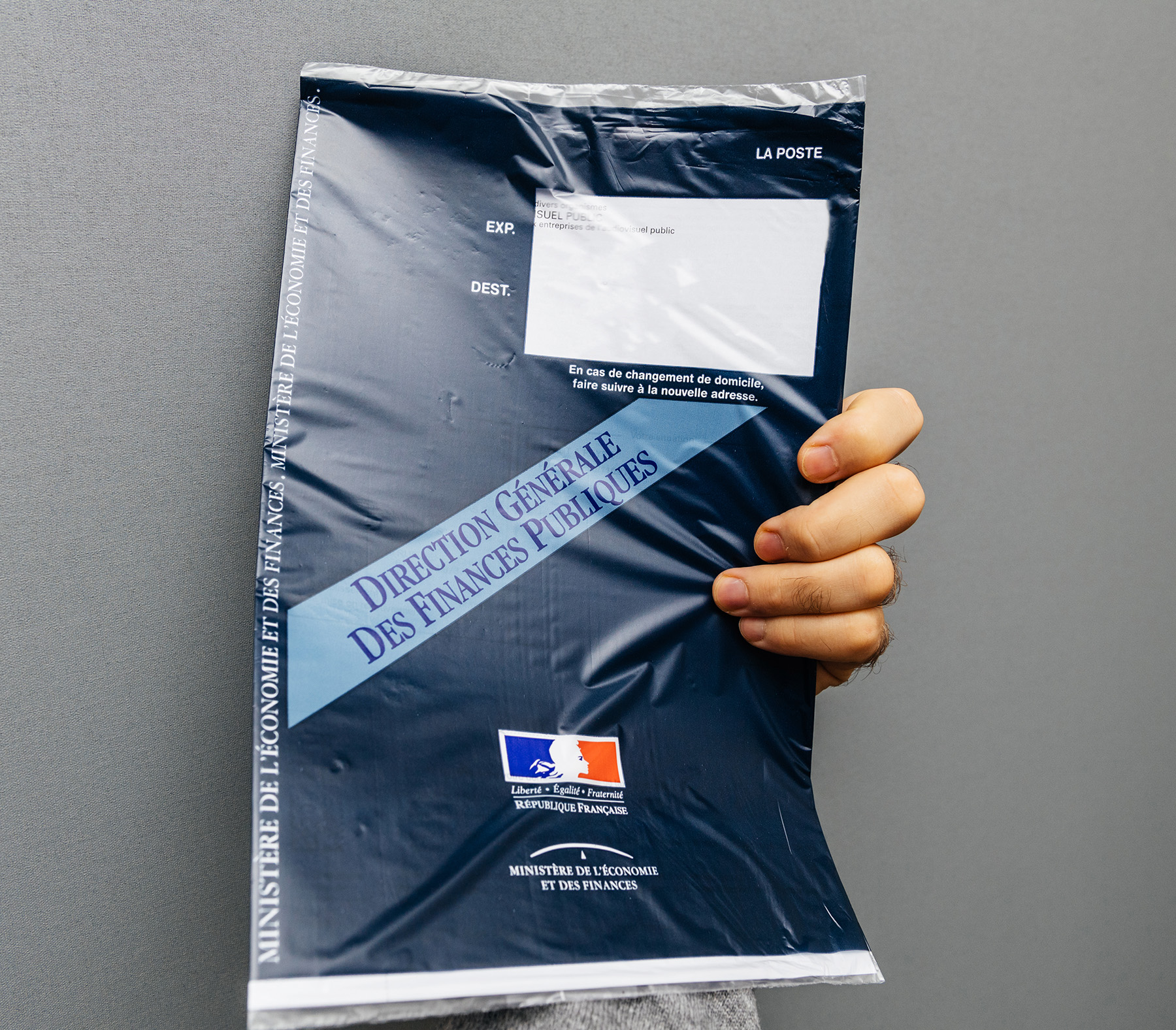 A taxe d'habitation packet in France