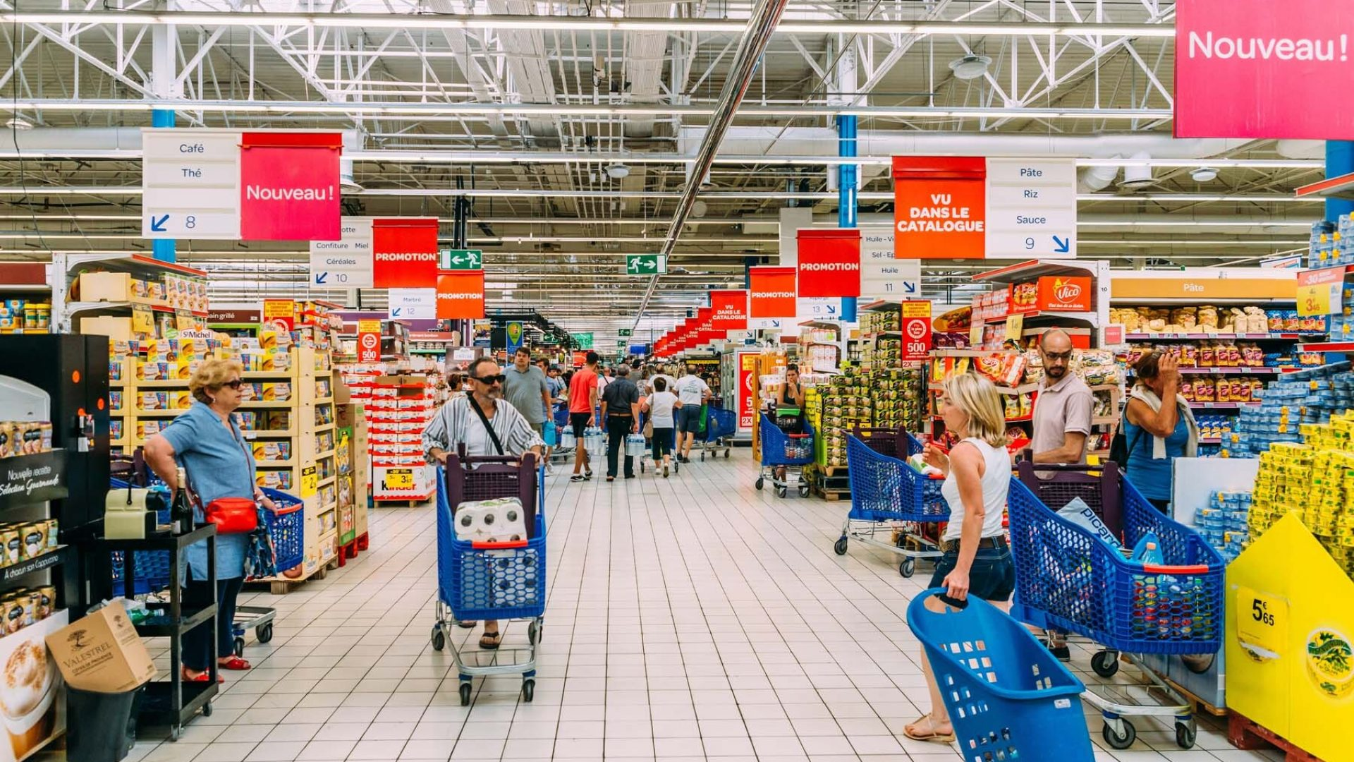 french supermarkets