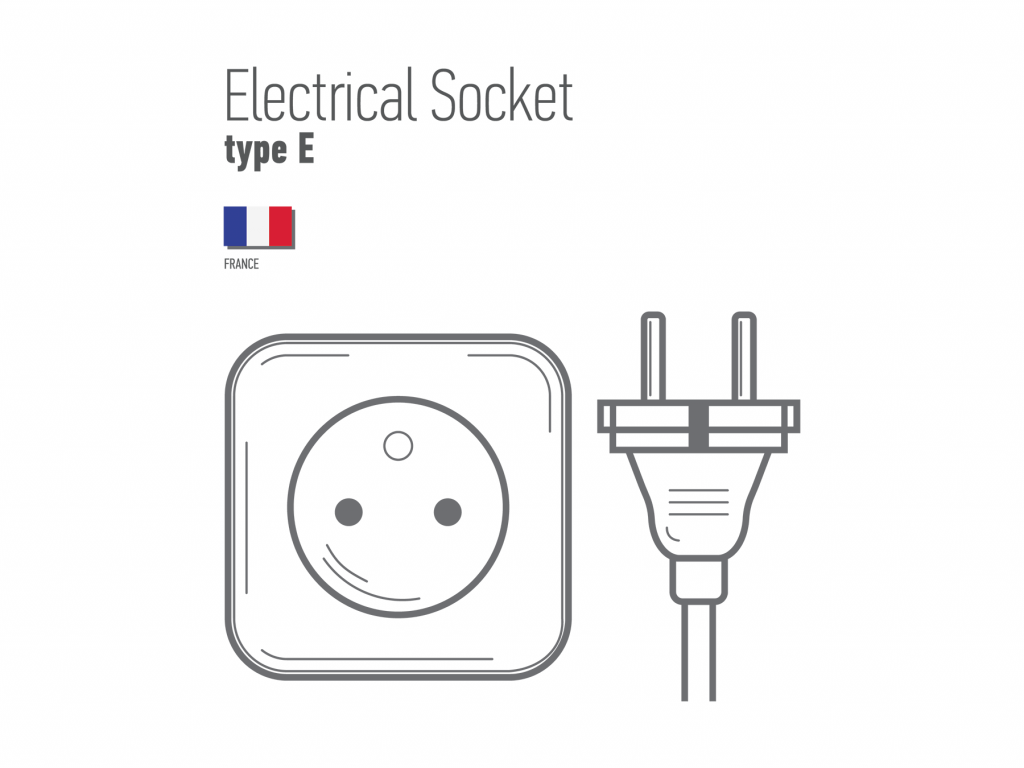 French electric sockets type E