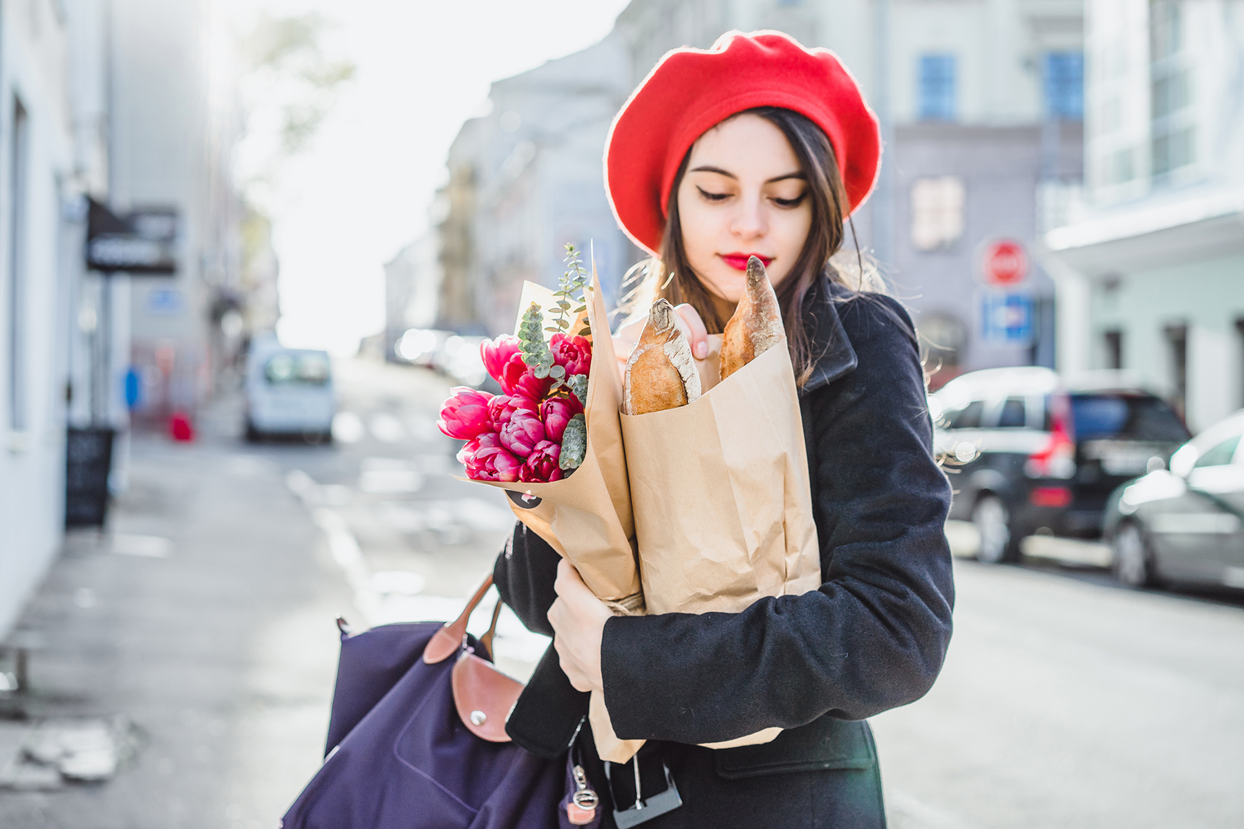 French baguette and beret stereotype