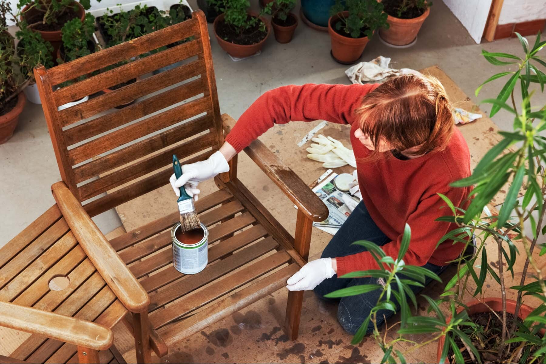 painting garden furniture france