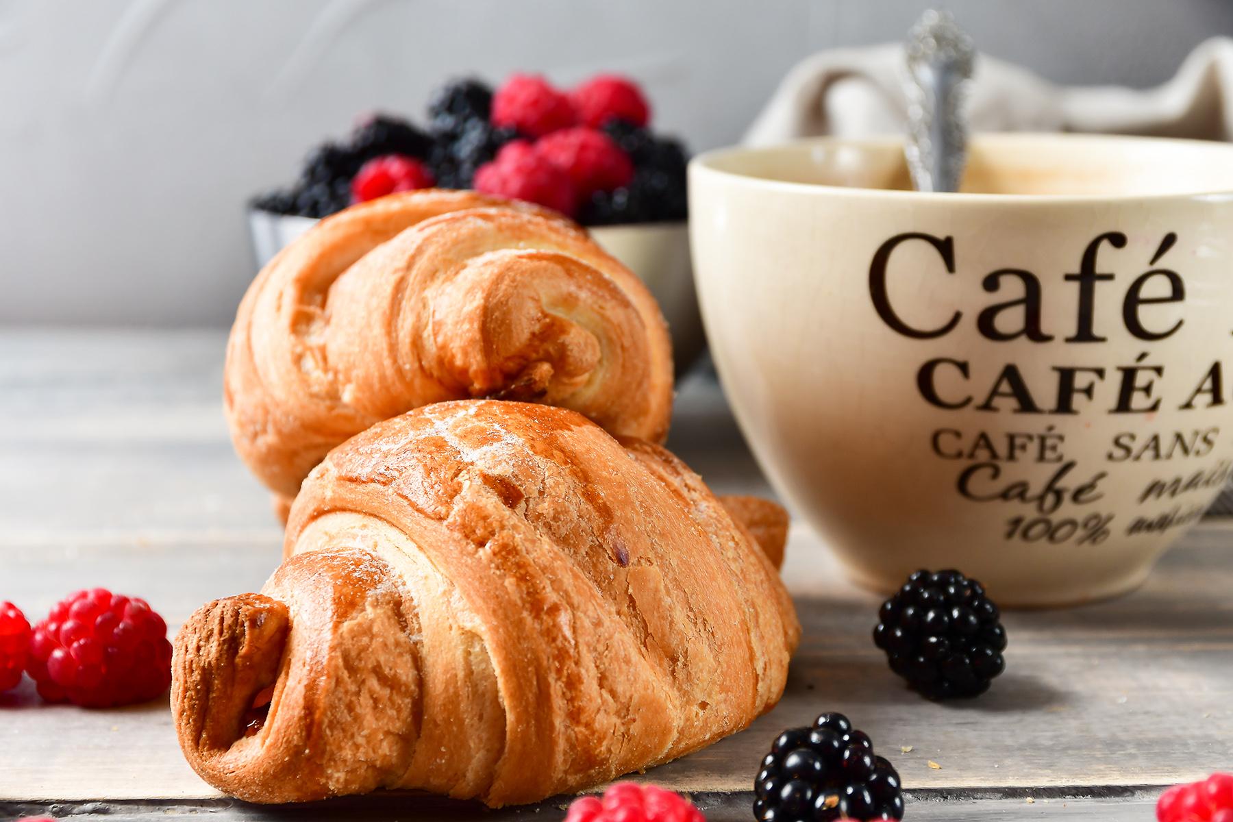 French breakfast: croissants and café au lait