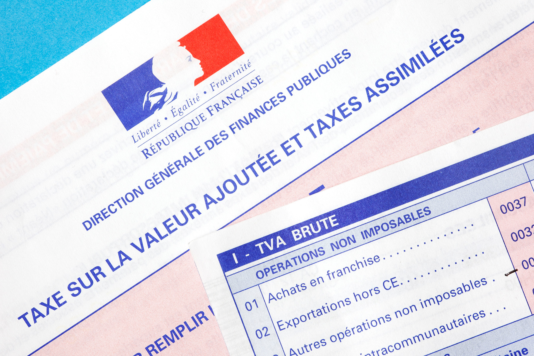 French TVA tax form