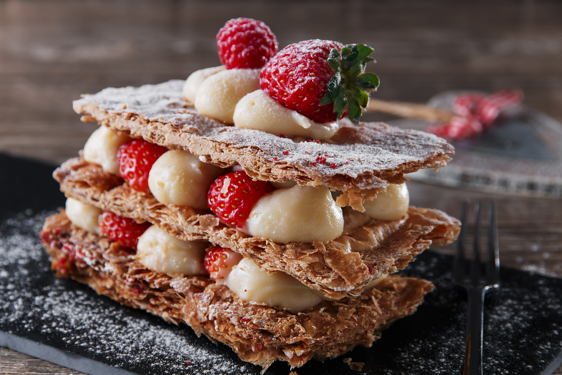 French cuisine: mille feuille