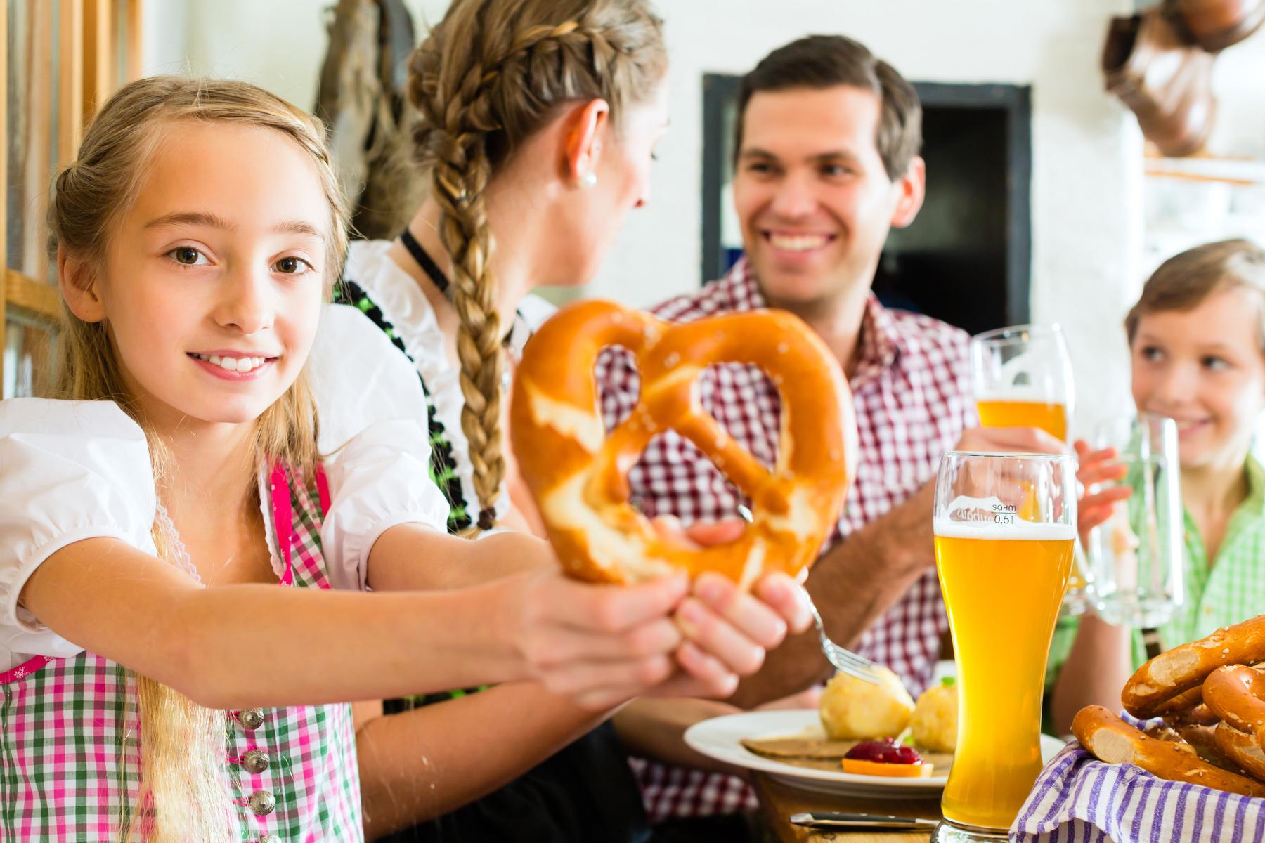 Family having lunch in Munich