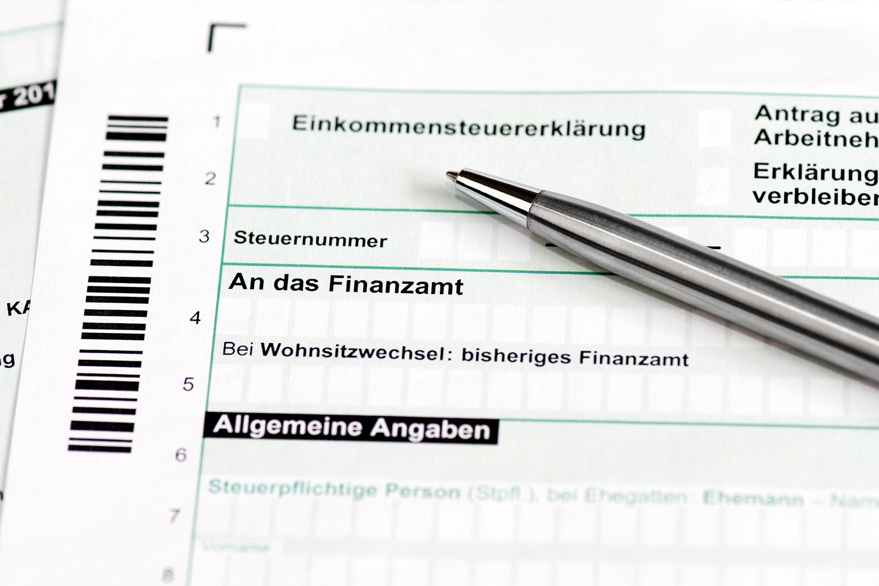 German income tax form