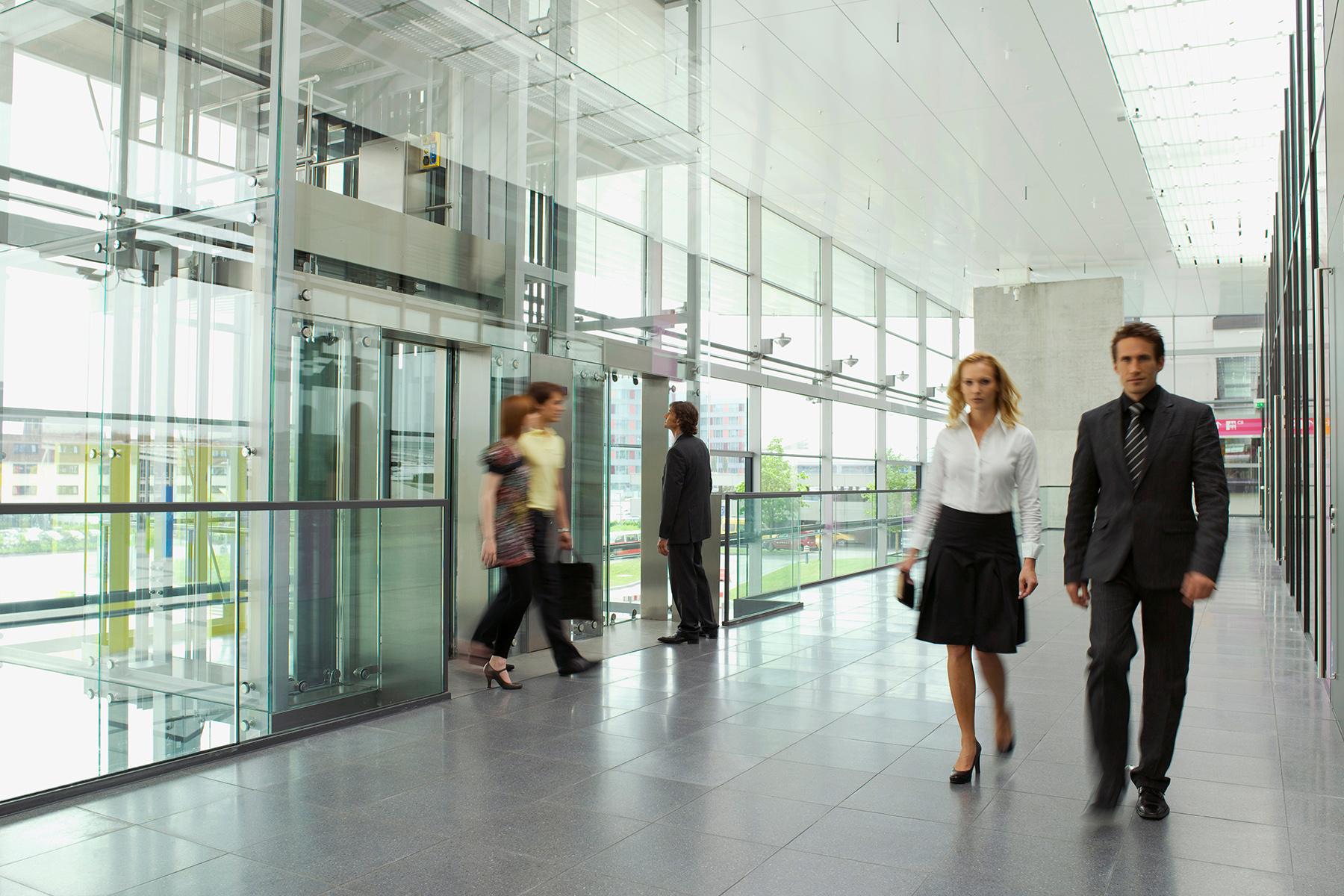 German office corridor