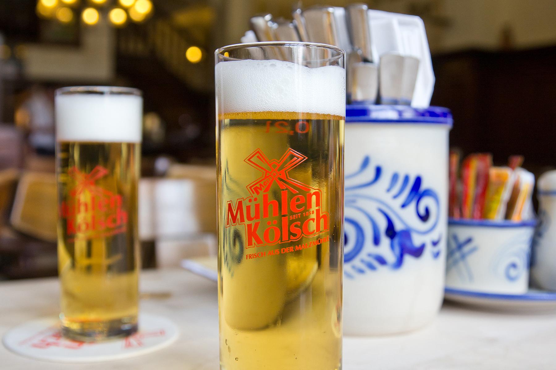 Two glasses of Kölsch from Brauerei zur Malzmühle in Cologne