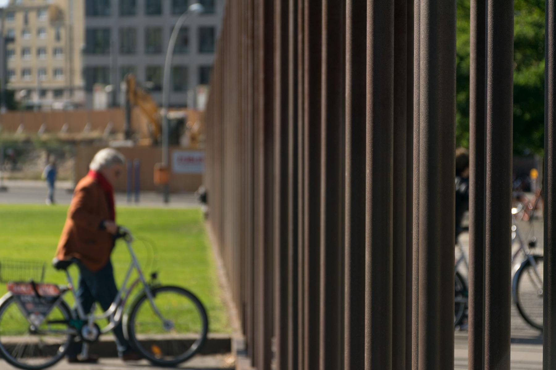 An elderly cyclist in Berlin