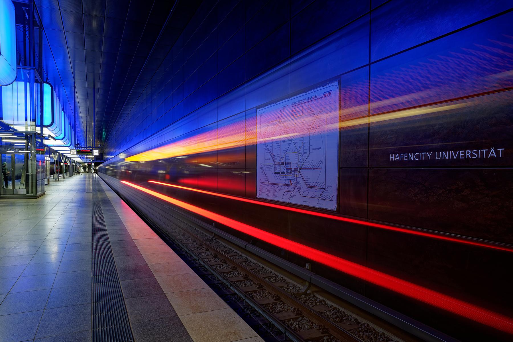 HafenCity Universität, the U-Bahn station near one of Hamburg's universities