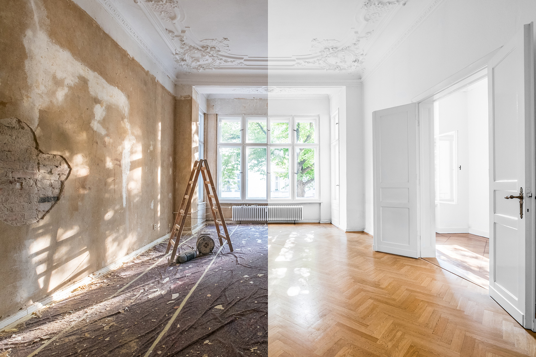 A renovated apartment