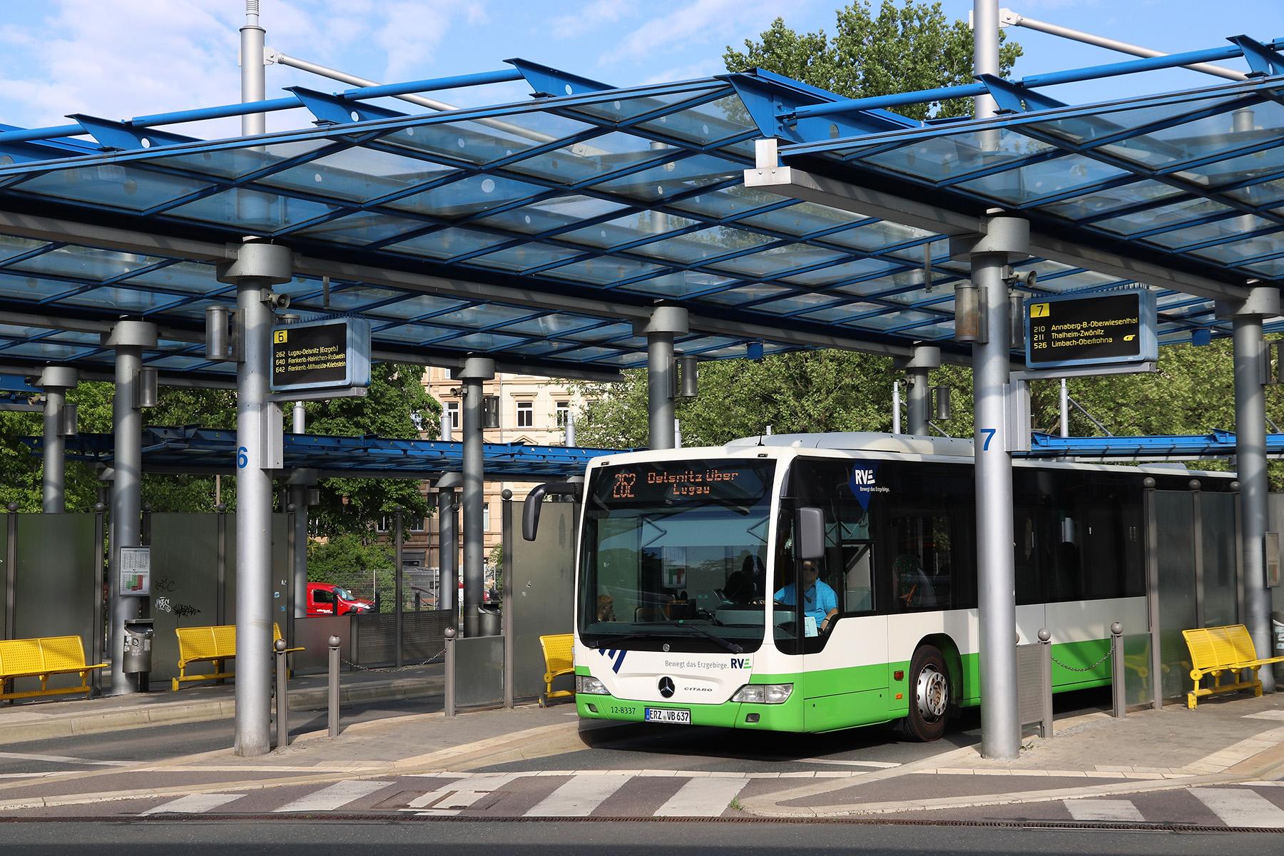 Bus station in Chemnitz