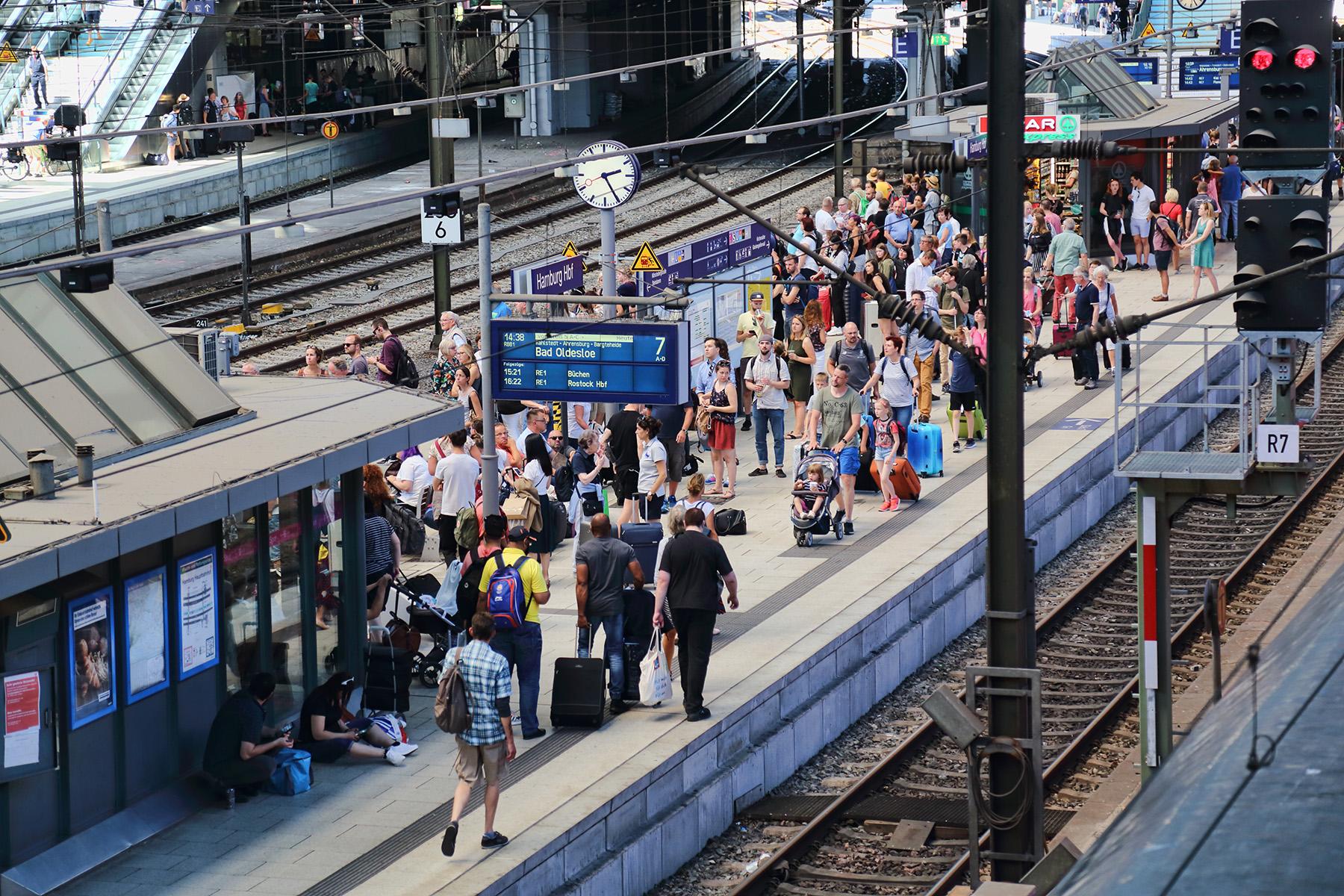 Platform at Hamburg Hbf