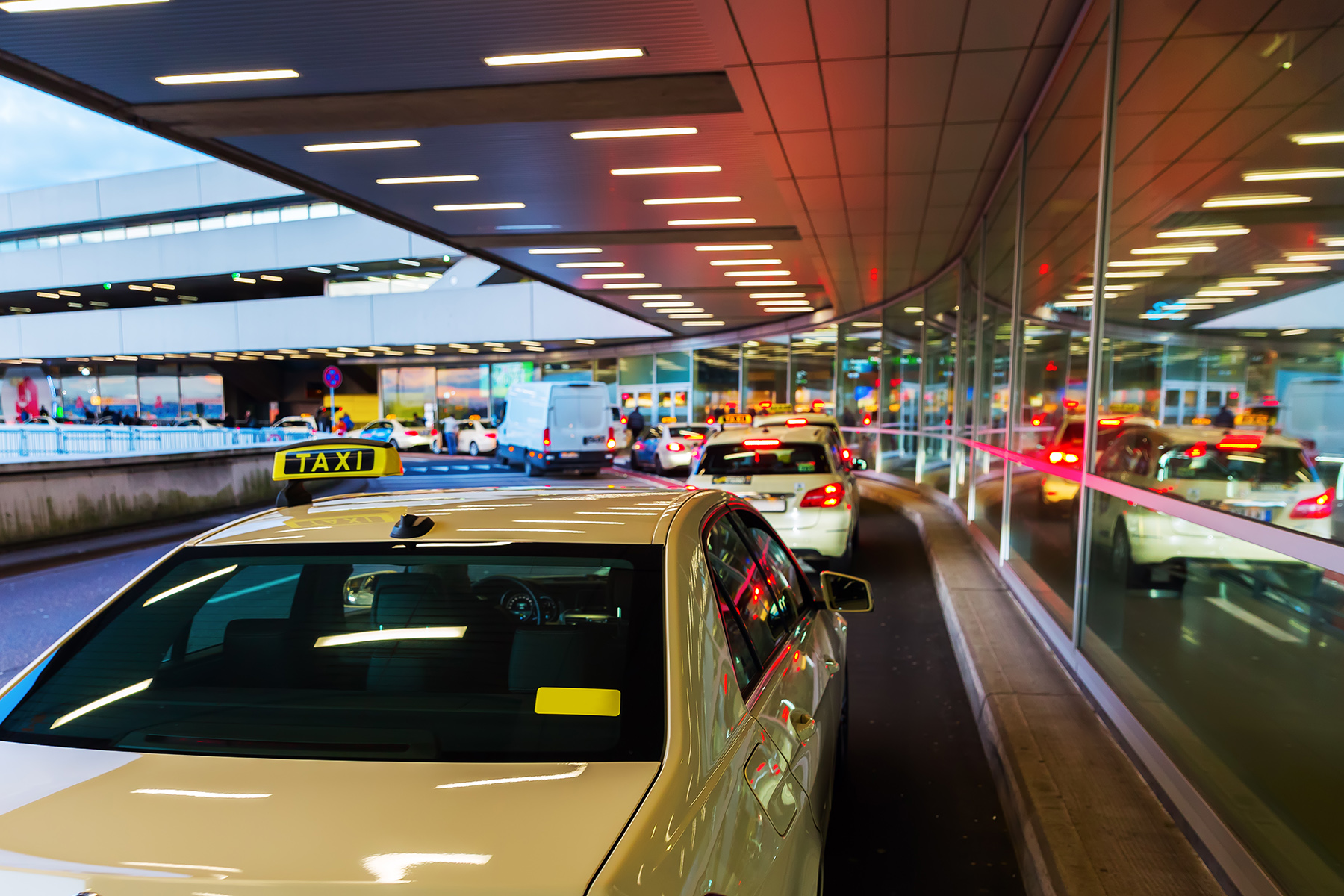 Taxi cabs at Cologne Airport