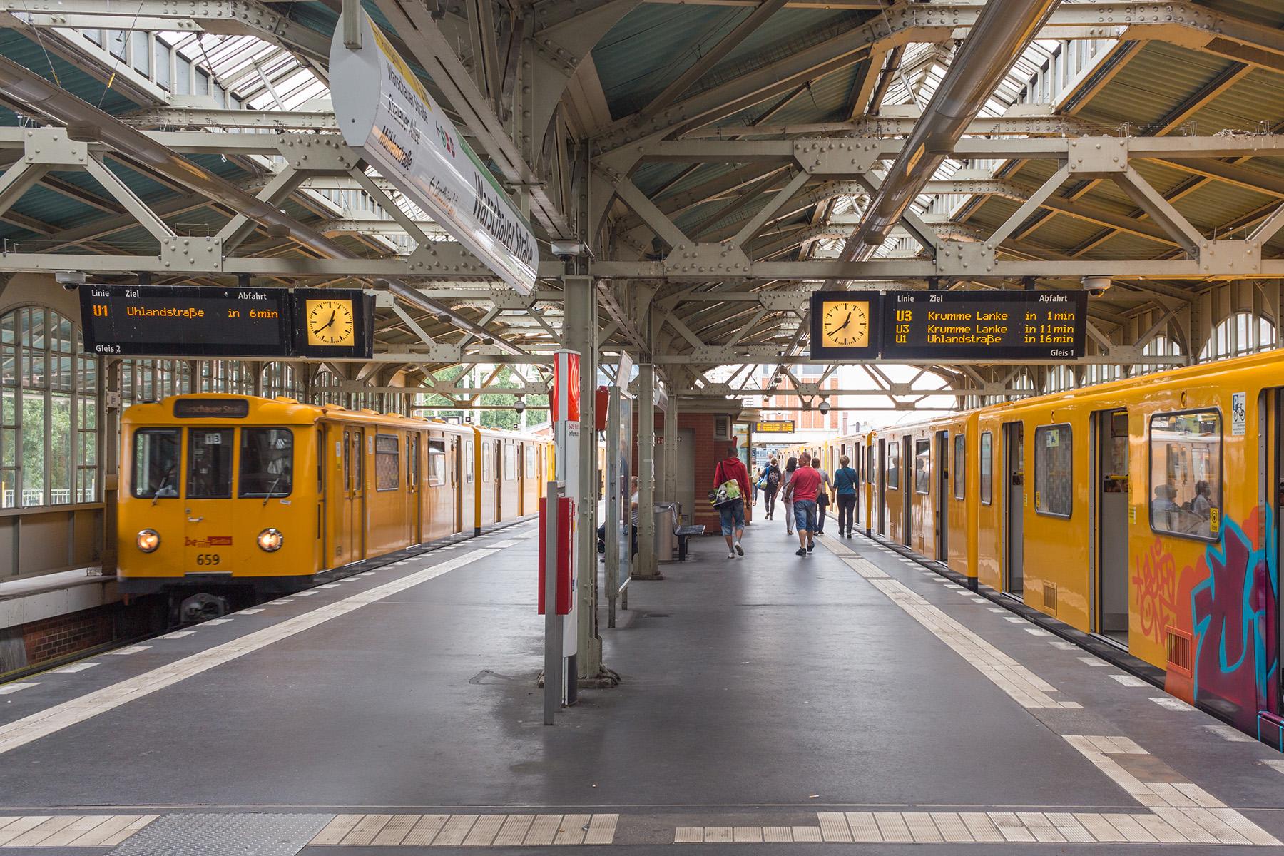 Warschauer Straße U-Bahn station in Berlin
