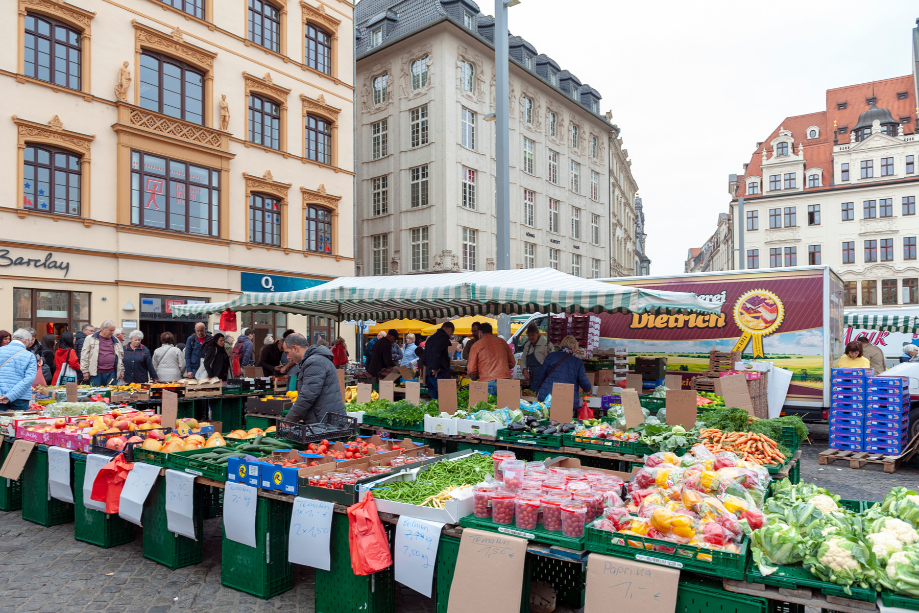 Farmers market in Leipzig