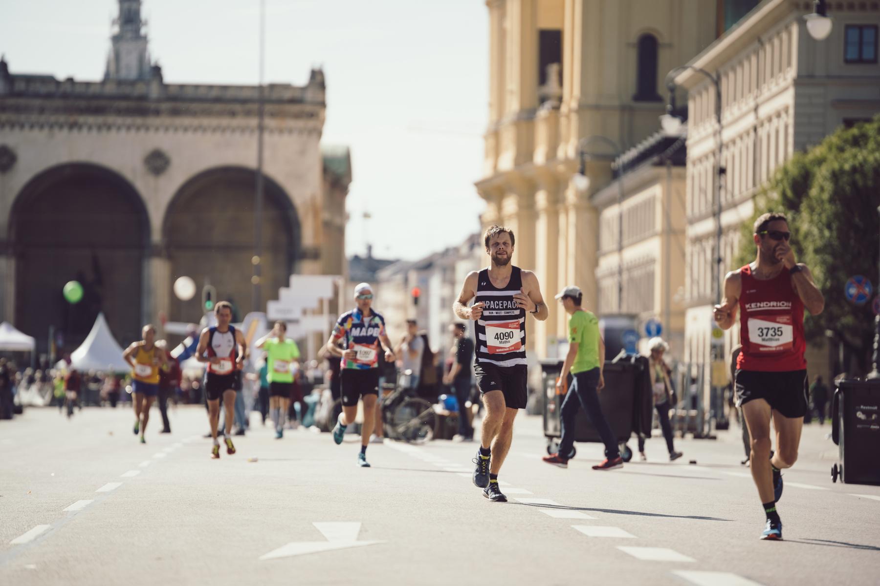 A runner in the Munich Marathon