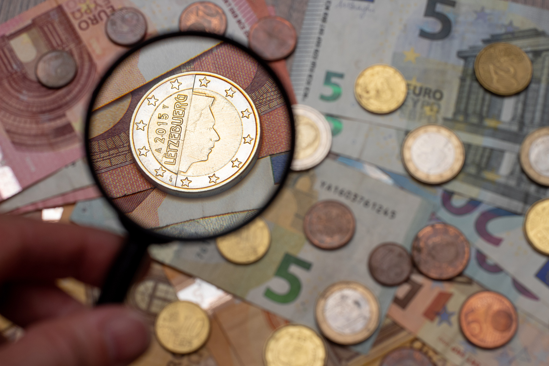 Luxembourg euro coin