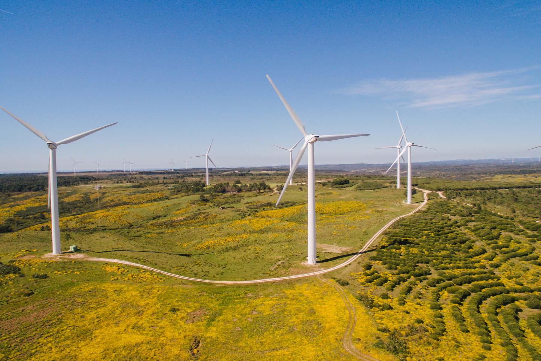 wind farm in Portugal