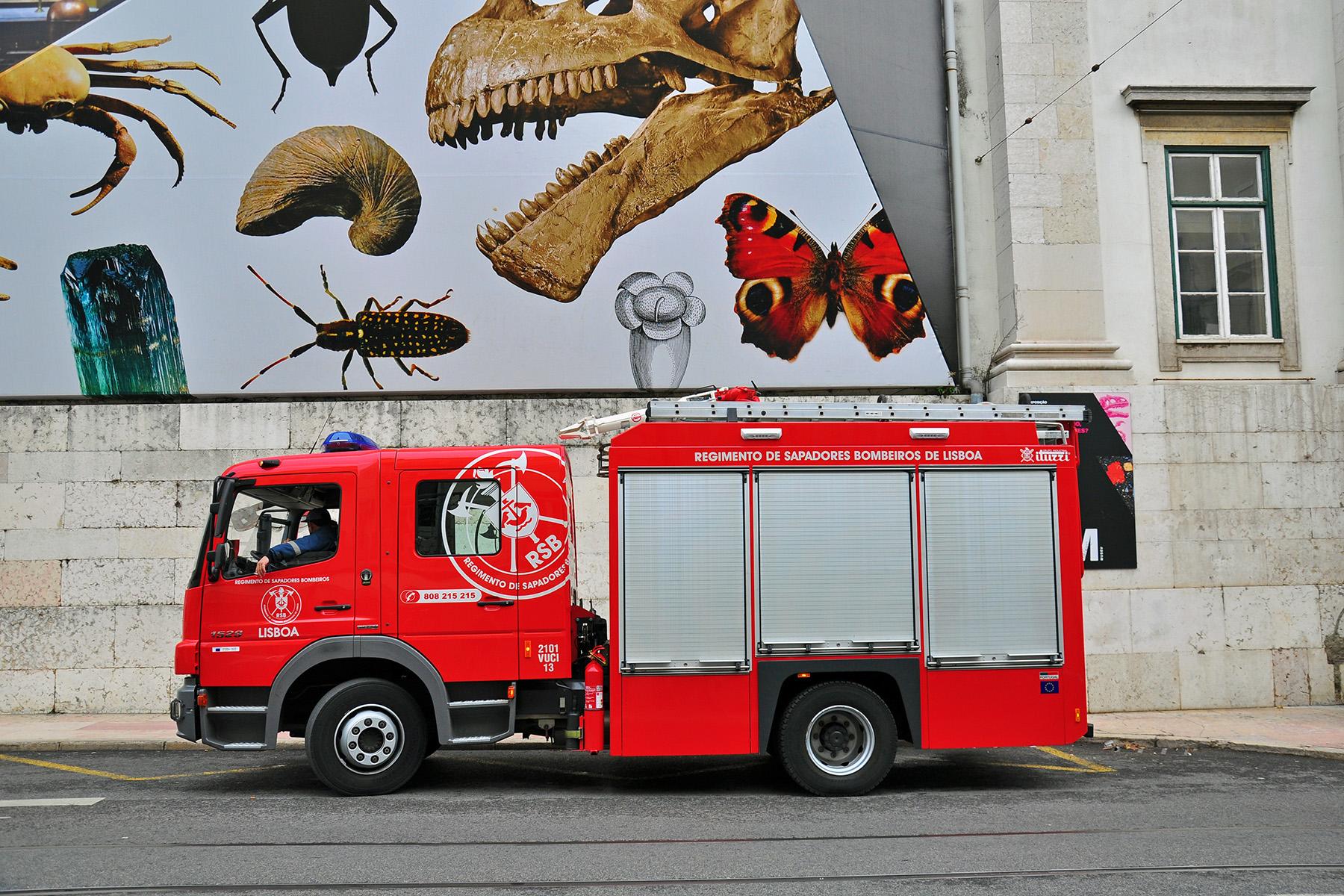Fire truck in Lisbon